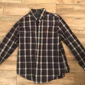 Polo Button Down Shirt Plaid